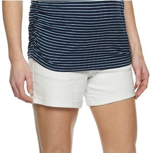 Pants - White Maternity Shorts